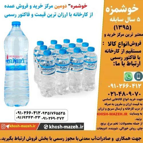 صادرات آب معدنی کوچک